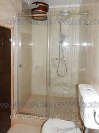 Glass Shower in a Bathroom