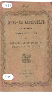 buku pelajaran di sekolah zending dengan bahasa batak toba bernama boekoe ni dakdanak di sikola