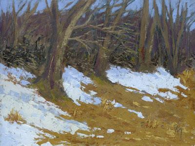 art landscape painting winter nature