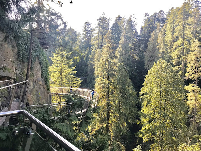 Vancover BC, Suspenson Bridge, Cliffwalk, Capilano Park