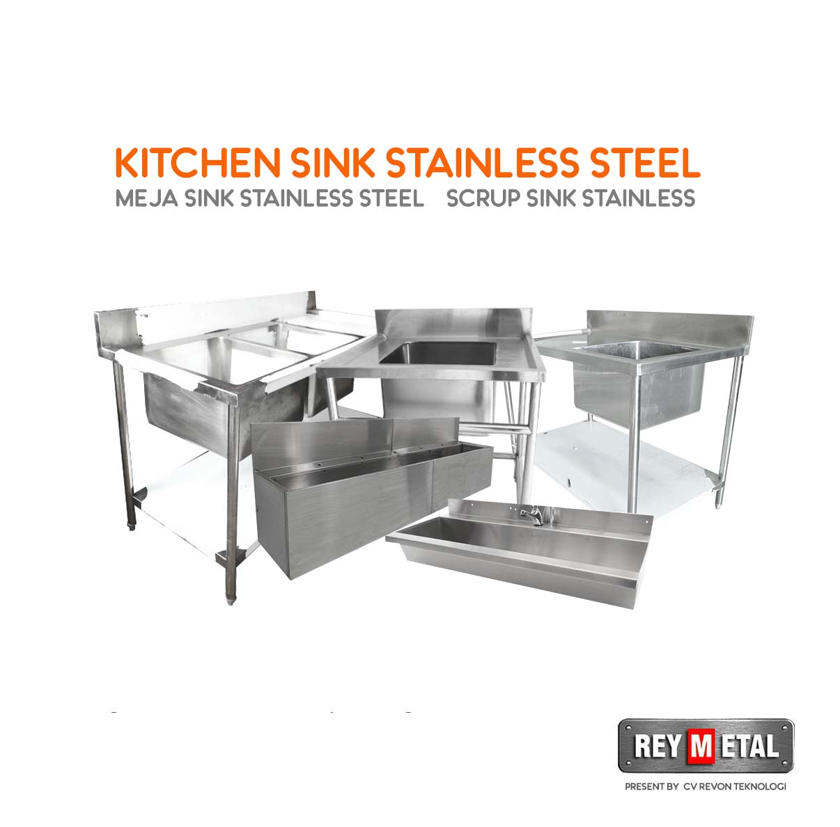 Reymetal com produsen kitchen set stainless cv revon for Harga kitchen set stainless steel