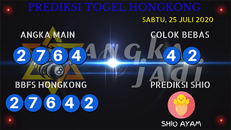 Prediksi Angka Jadi Togel Hongkong HK Sabtu 25 Juli 2020