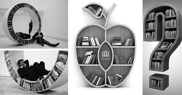 Creative bookshelves Design Ideas in 2020