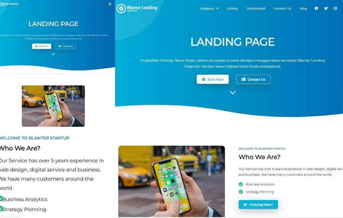 Download Template Blogger Blanter Landing Premium 2020 untuk Bisnis