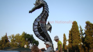 Seahorse Sculpture in Alushta