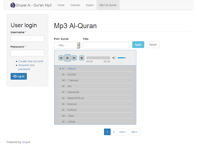 Drupal Al - Quran Mp3 Player