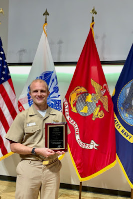 Navy Capt. (Dr.) Kent Werner displays the 2020 Trainee Investigator Award presented to him by the American Association of Sleep Medicine.  (Courtesy photo)