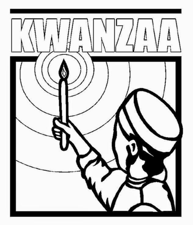 kwanzaa kinara coloring page - kwanzaa coloring pages kids