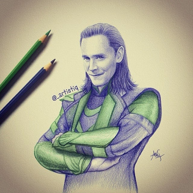 22-Loki-Cas-_artistiq-Colored-Celebrity-and-Cartoon-Drawings-www-designstack-co