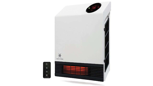 Heat Storm Deluxe Mounted Space Infrared Wall Heater