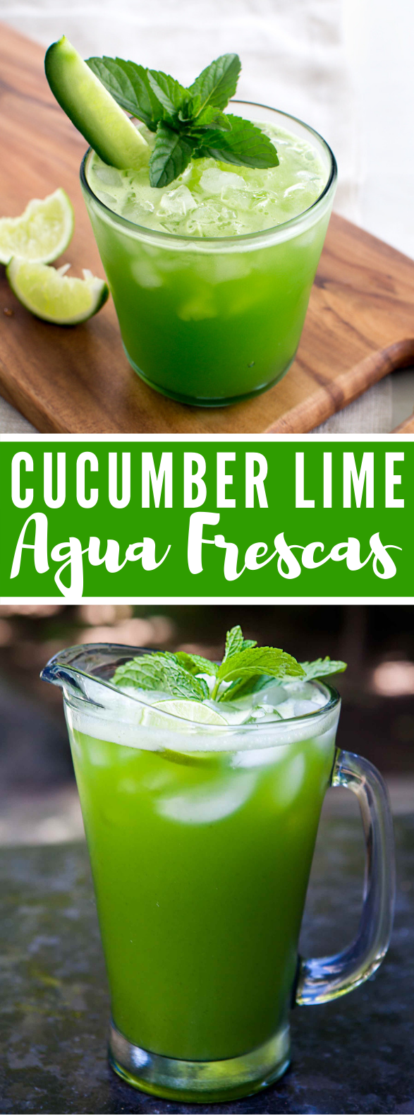 CUCUMBER LIME AGUA FRESCAS #drinks #beverage