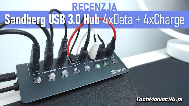 Sandberg USB 3.0 Hub 4xData + 4xCharge