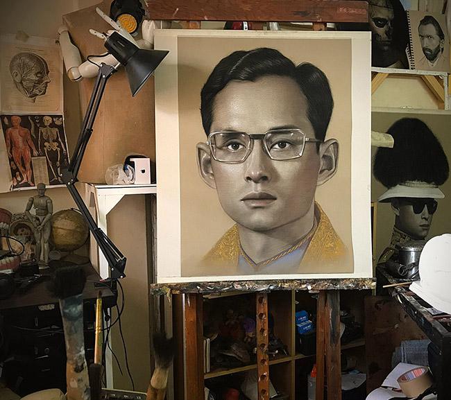 Keeyapat Katesawai - Thai King Rama IX art