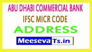 ABU DHABI COMMERCIAL BANK IFSC MICR CODE ADDRESS