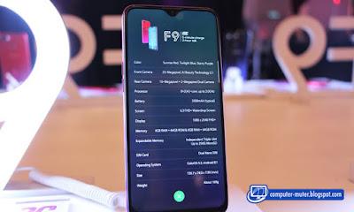 Oppo Indonesia meluncurkan produk teranyarnya Harga Oppo F9 dan Spesifikasinya