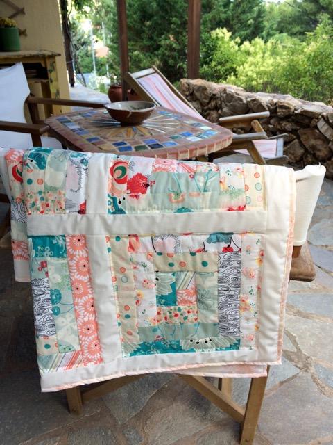 Log Cabin baby quilt