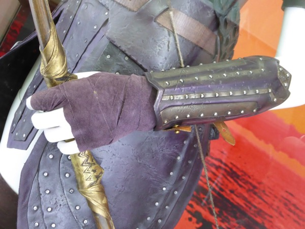 Antiope wrist guard detail Wonder Woman costume