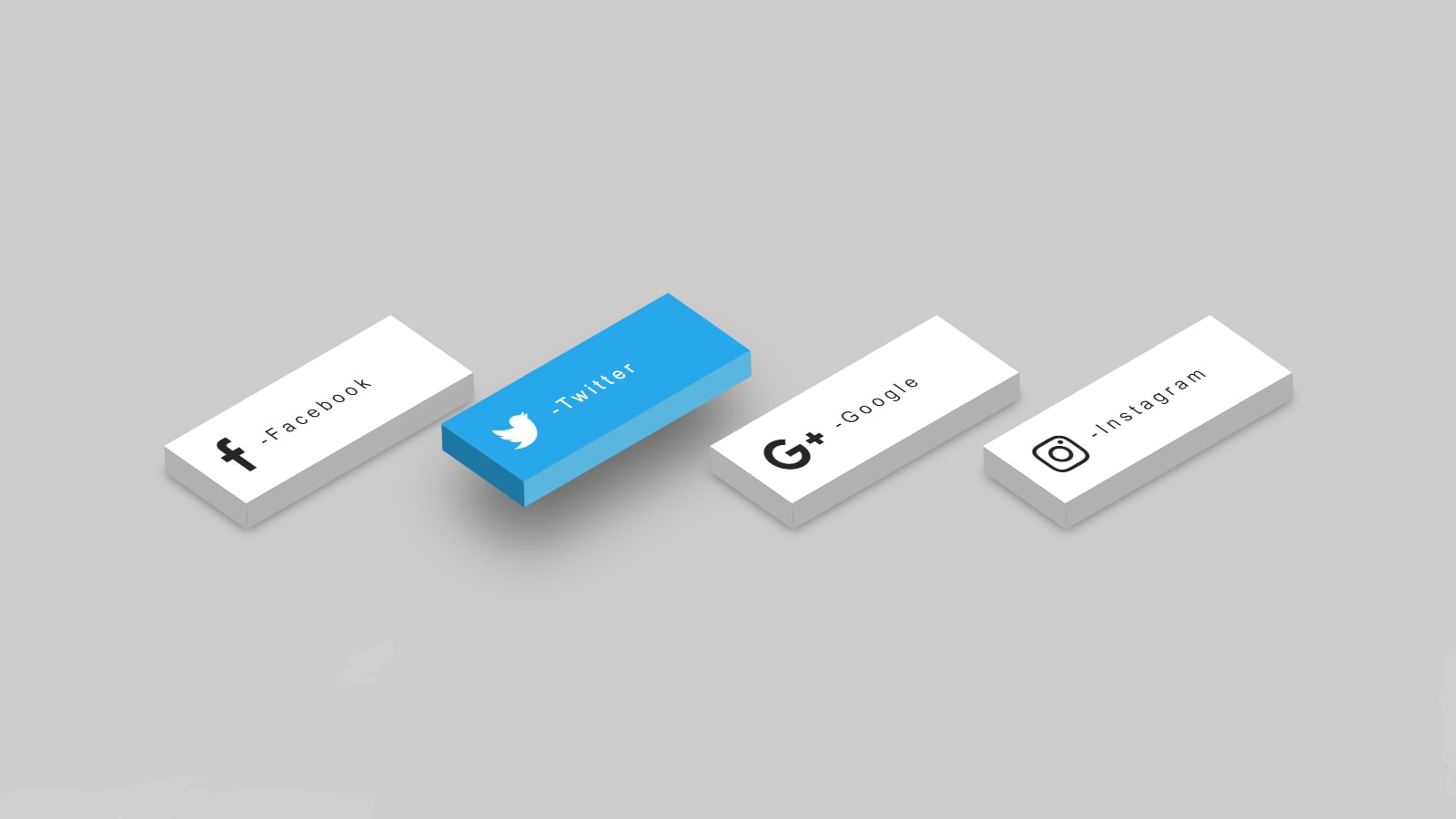 3D Social Media Buttons Using Simple HTML and CSS Code