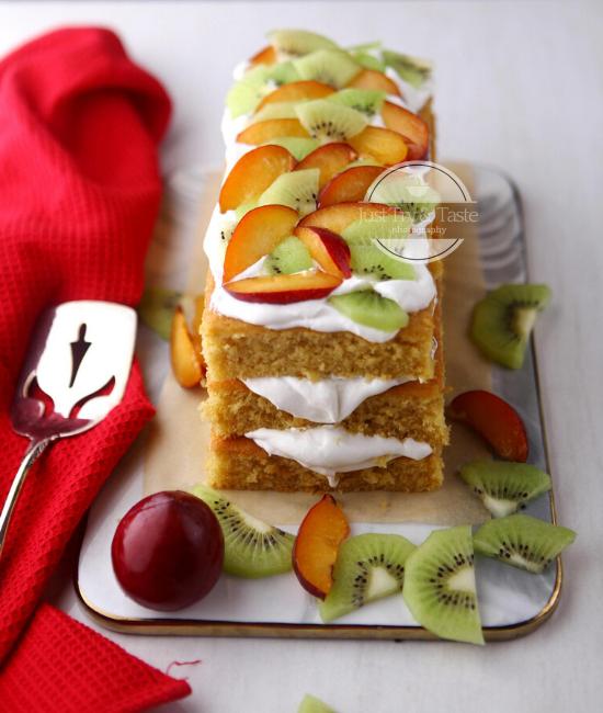 Resep Sponge Fresh Fruit Cake JTT