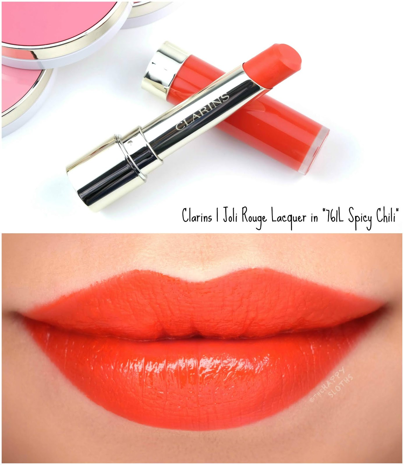 "Clarins | Fall 2019 Joli Rouge Lacquer in ""761L Spicy Chili"": Review and Swatches"
