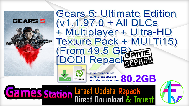 Gears 5 Ultimate Edition (v1.1.97.0 + All DLCs + Multiplayer + Ultra-HD Texture Pack + MULTi15) (From 49.5 GB) – [DODI Repack]