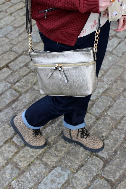 Rolled Up Jeans, Doc Martens Metallic Bag | Petite Silver Vixen