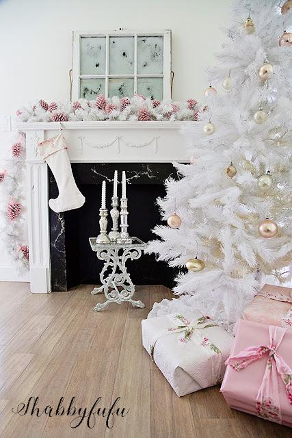 shabby-chic-white-christmas-tree