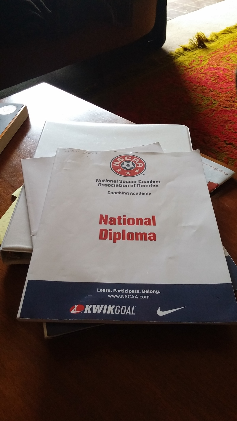 The NSCAA National Diploma   Effective Goalkeeping Once you get there  you get put into groups of 13 candidates with one  instructor  My instructor was naturalized American Peter Gooding