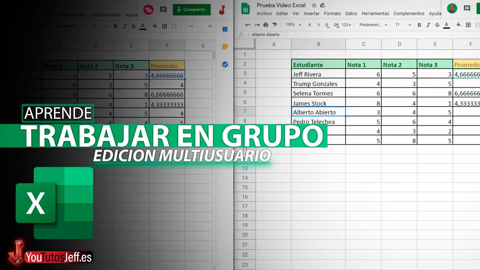 Como Trabajar en Grupo en Excel desde tu Casa, Edición MultiUsuario