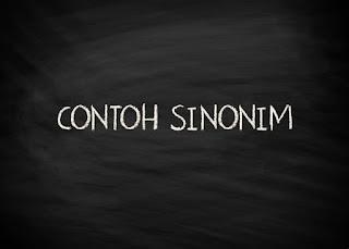 Contoh Sinonim (Persamaan Kata / Padanan Kata)