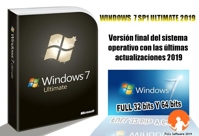 Windows 7 SP1 Ultimate, La ultima version del sistema operativo actualizado hasta Mayo 2019.