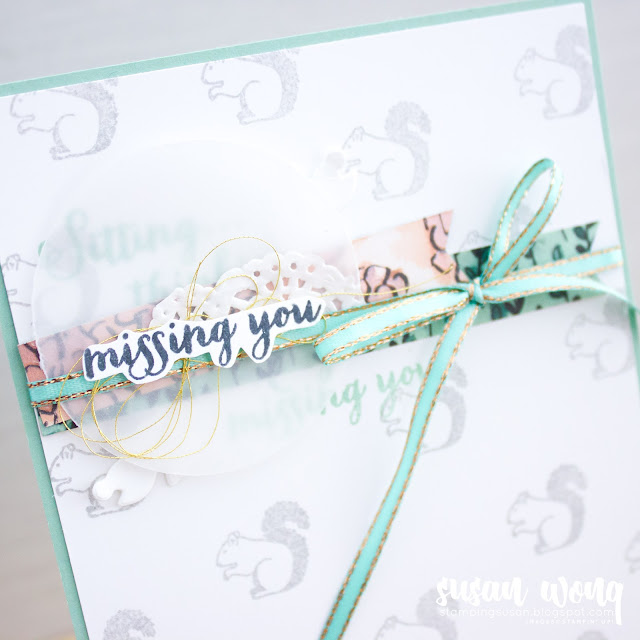 Sitting Pretty Stamp Set by Stampin' Up! Squirrel Card - Stamping Susan Wong