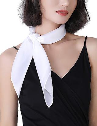 White Satin Scarves