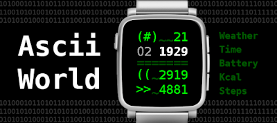 Ascii world watchface - Pebble Time / Steel / Time 2