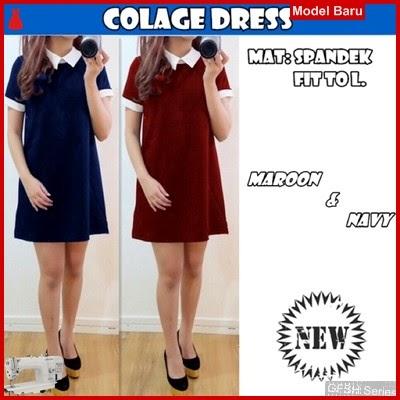 GFSH0869086 Setelan Colage Keren Terbaru Dress BMG