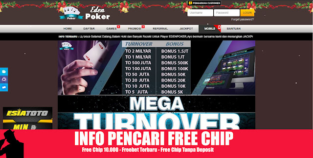 EDENPOKER PROMO MEGA TURN OVER BULANAN