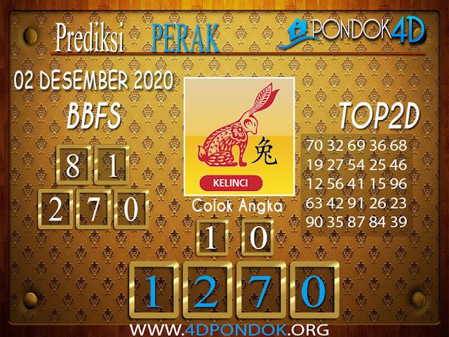 Prediksi Togel PERAK PONDOK4D 02 DESEMBER 2020
