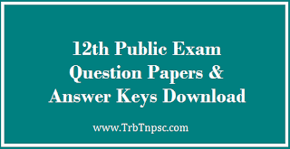 12th Chemistry - Public Exam 2021 - Model Question Paper ...