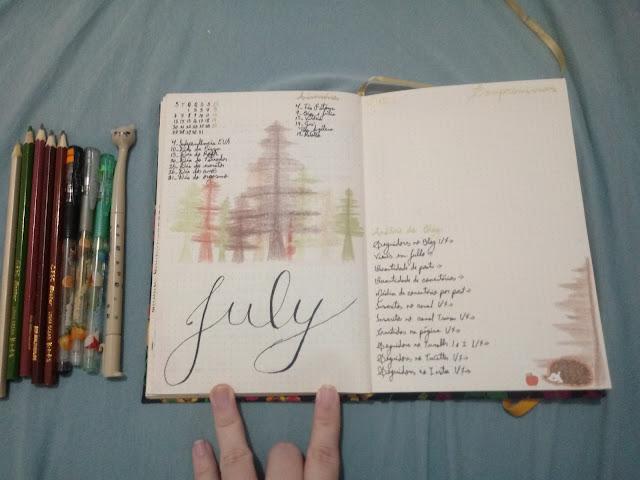 Bullet journal july