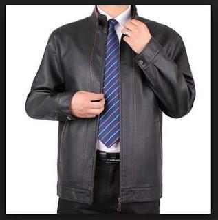 jaket kulit big size untuk pria