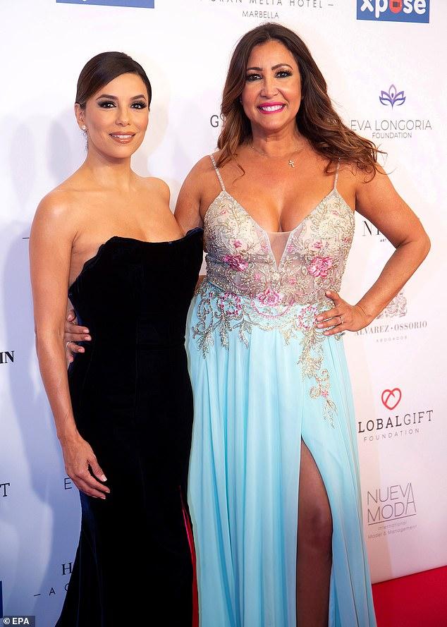 Eva Longoria looks elegance as she attended the VIII Global Gift gala in Marbella