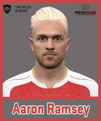 PES 2016 Aaron Ramsey Face & Hair 2016