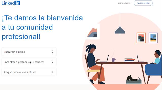 LinkedIn pagina inicio