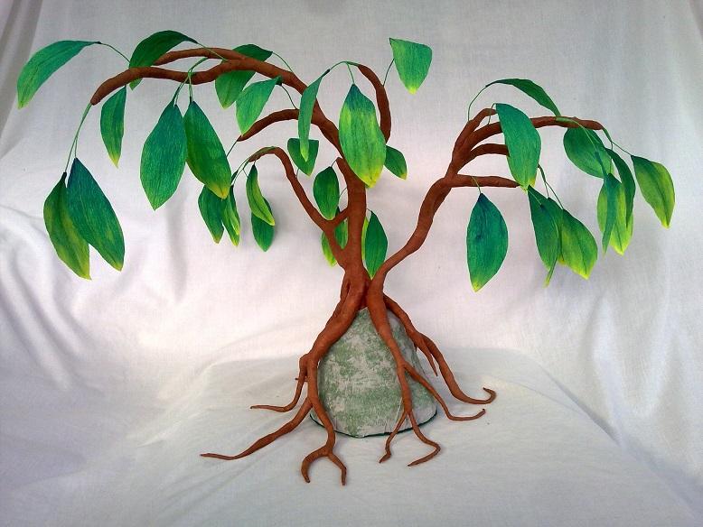 crafty little beanut   crepe paper tree