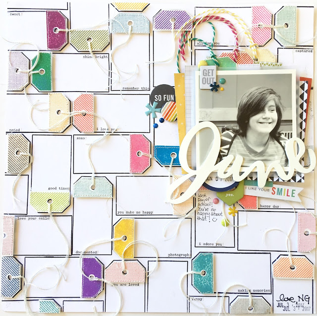 June Scrapbook Page by Angela Tombari