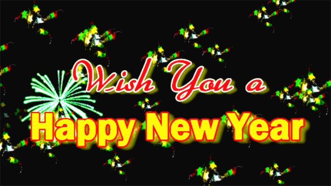 wish you happy new year card