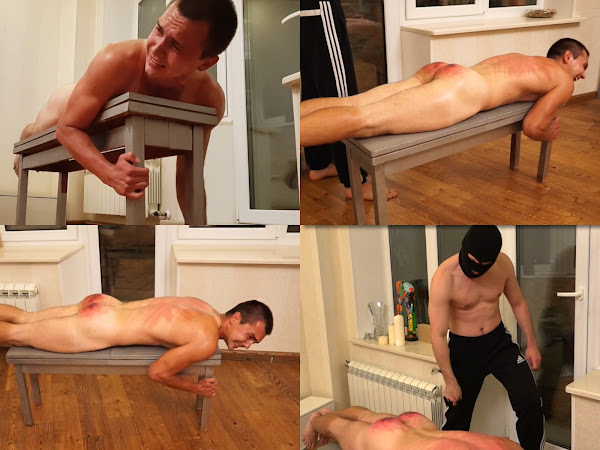 #RusStraightGuys - Athlete Back whipping Egor 23 y.o.