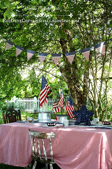 Rosevine Cottage Girls 4th of July party