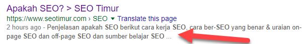 Deskripsi Halaman Di Google