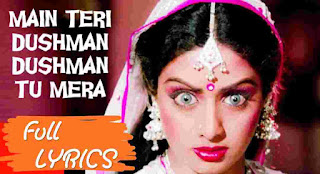 Mai teri dushman dushman tu mera मैं तेरी दुश्मन दुश्मन तू मेरा lyrics is available now, Sung by Lata Mangeshkar from movie Nagina.